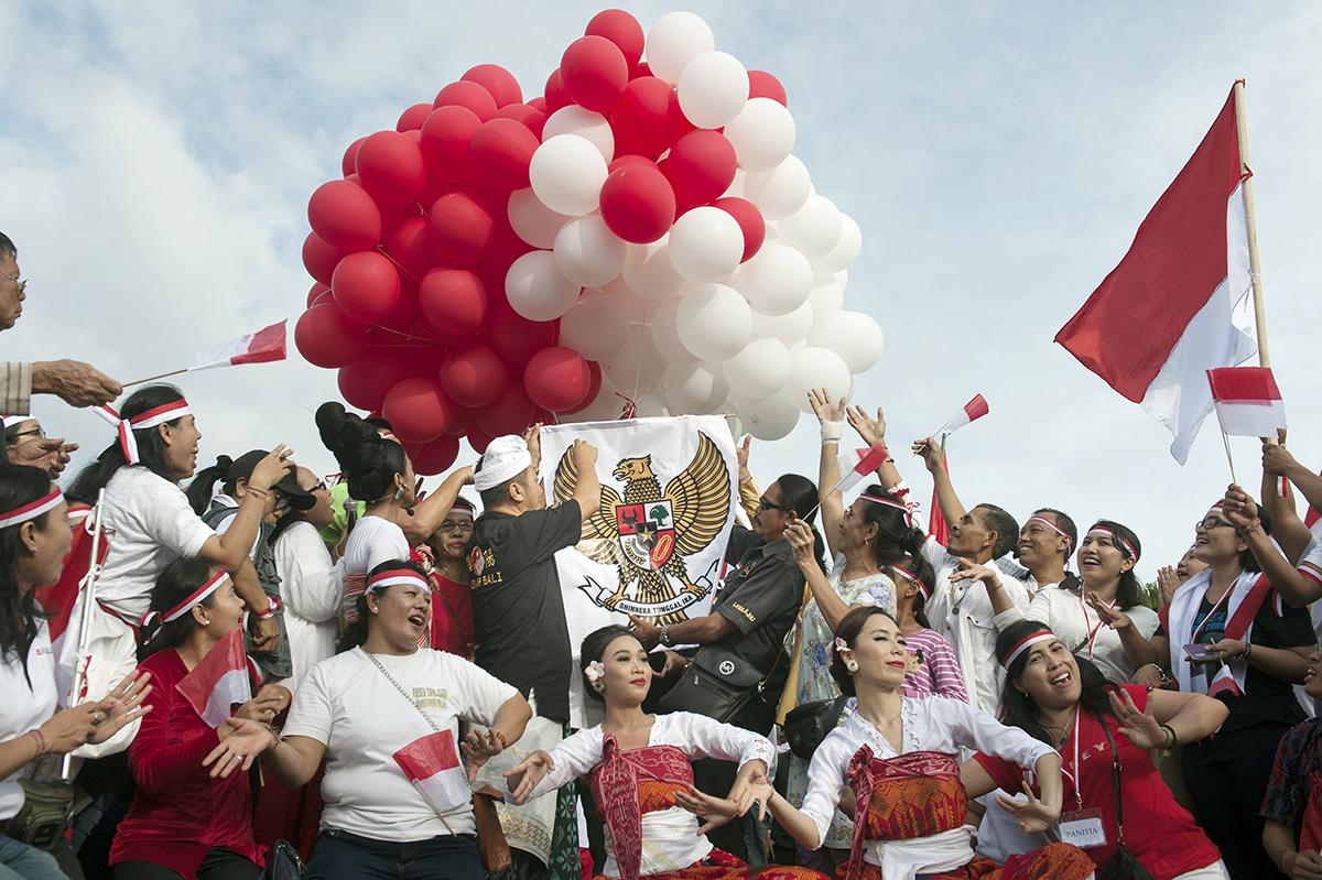 Perayaan hari jadi Pancasila. ANTARA